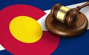 Colorado Flag with gavel